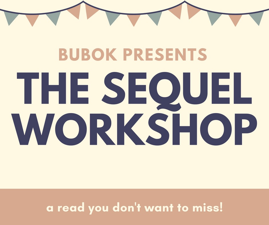 """Graphic with text reading as follows: """"Bubok Presents: The Sequel Workshop - a read you don't want to miss"""""""