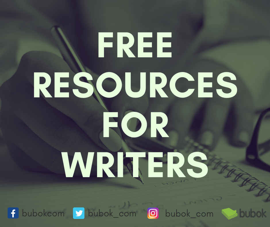 "Header image reading: ""free resources for writers"""