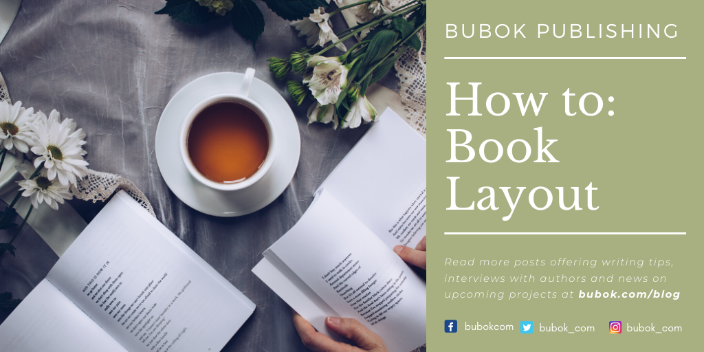 """Header reading: """"Bubok publishing: How to: Book Layout"""""""