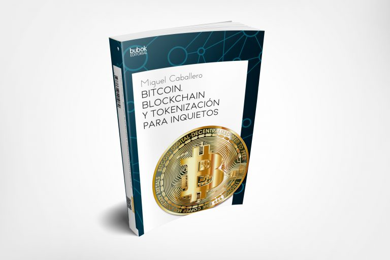 cover design of spanish Bubok book about bitcoin by Miguel Caballero
