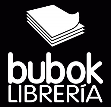 Bookstore logo in negative