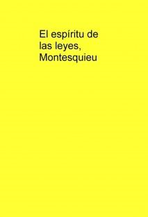 El espíritu de las leyes, Montesquieu