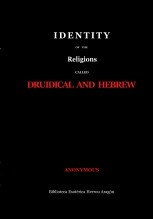 Libro Identity of the religions called Druidical and Hebrew, autor José María Herrou Aragón